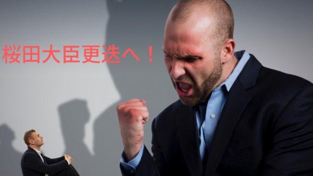 桜田大臣更迭