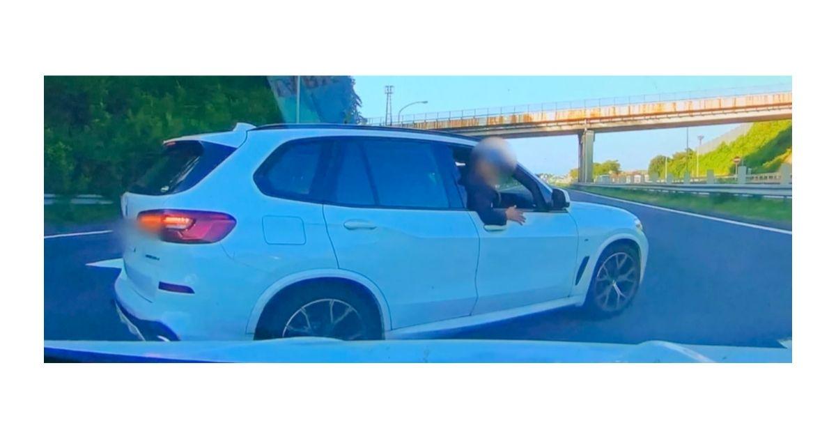 犯人 あおり 運転 白い 車